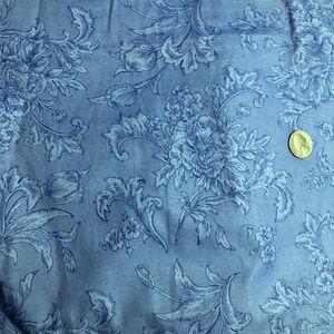 Striped Floral Cotton Quilt Dress Skirt Fabric